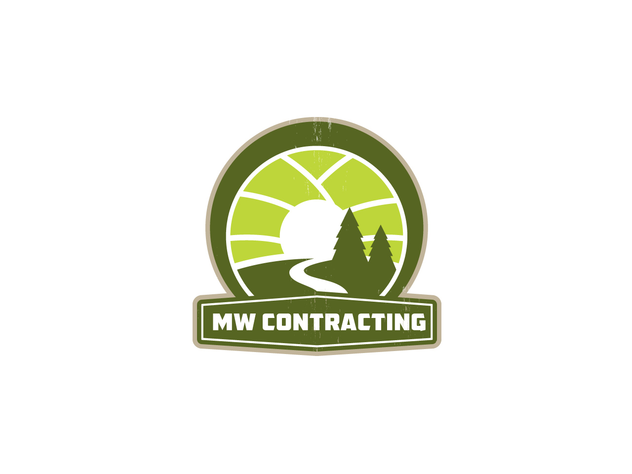 Logo Design by jpbituin - Entry No. 48 in the Logo Design Contest Unique Logo Design Wanted for MW Contracting.