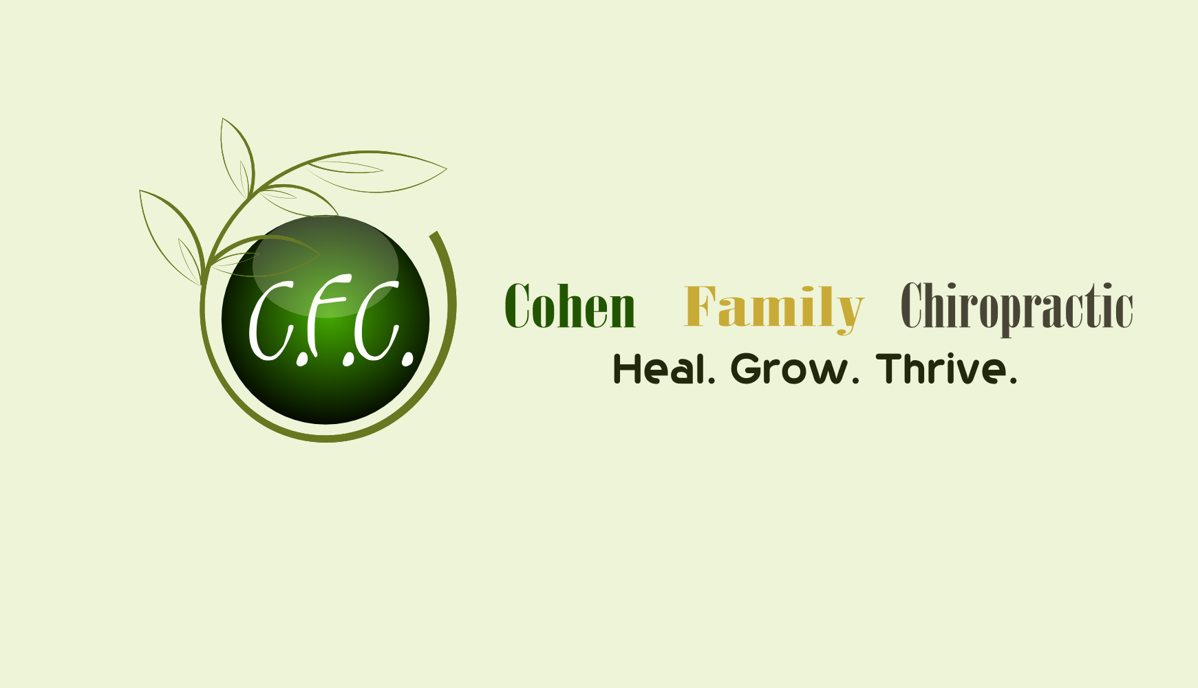 Logo Design by Arindam Khanda - Entry No. 69 in the Logo Design Contest Unique Logo Design Wanted for Cohen Family Chiropractic.