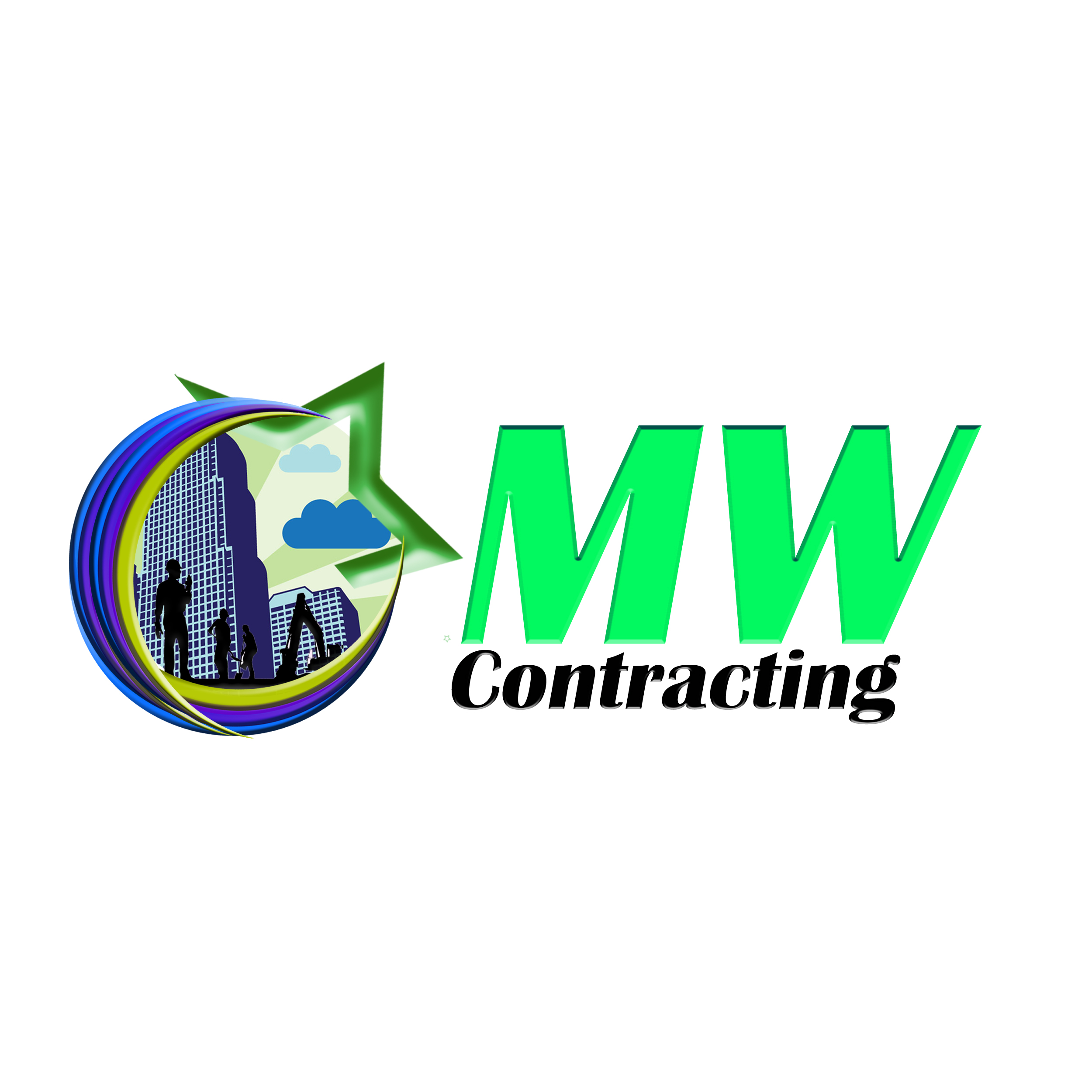 Logo Design by Roberto Sibbaluca - Entry No. 61 in the Logo Design Contest Unique Logo Design Wanted for MW Contracting.