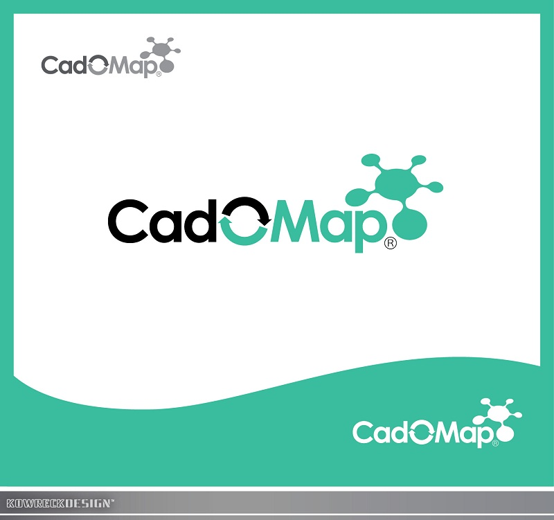 Logo Design by kowreck - Entry No. 22 in the Logo Design Contest Captivating Logo Design for CadOMap software product.