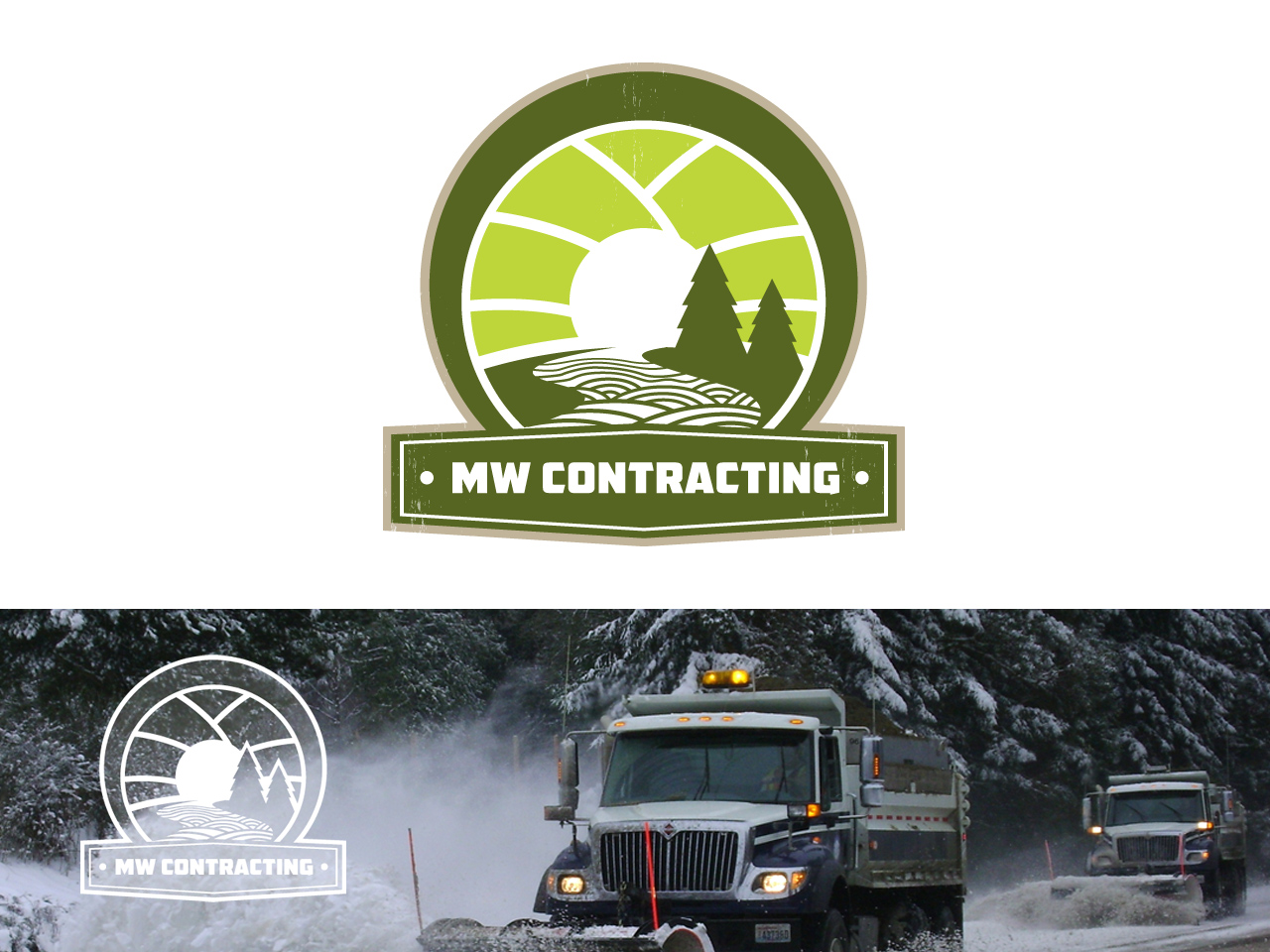Logo Design by jpbituin - Entry No. 71 in the Logo Design Contest Unique Logo Design Wanted for MW Contracting.