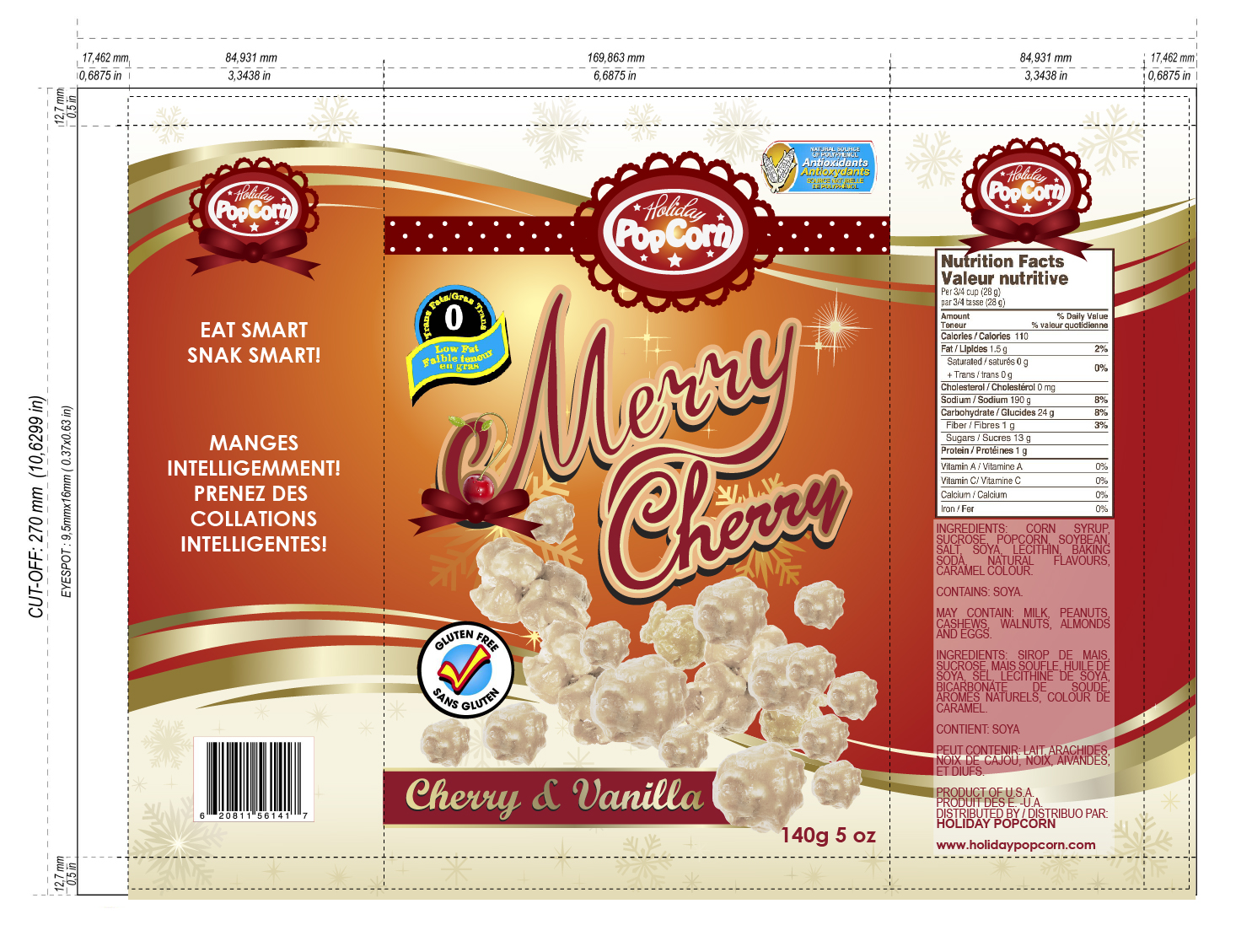 Packaging Design by lagalag - Entry No. 17 in the Packaging Design Contest Imaginative Packaging Design for Holiday Popcorn.