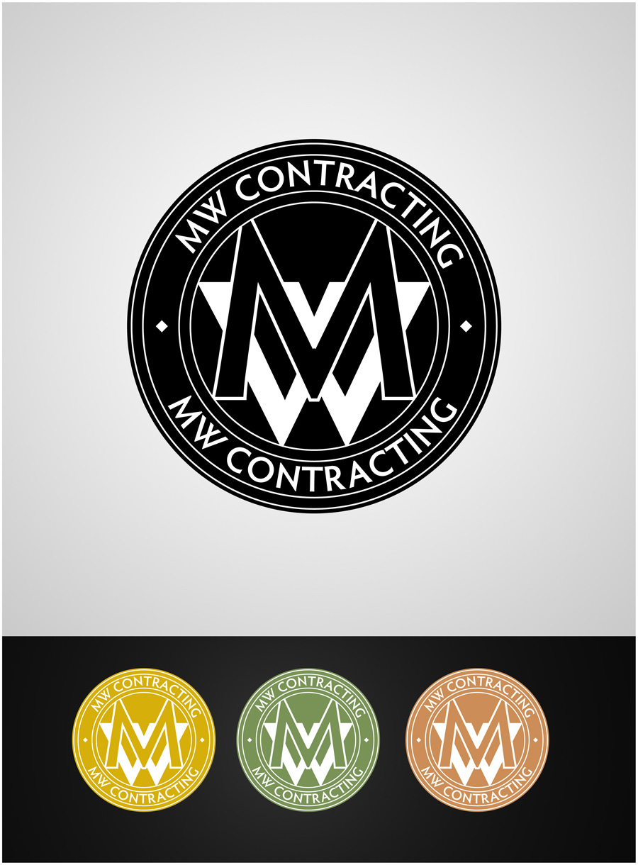 Logo Design by gkonta - Entry No. 86 in the Logo Design Contest Unique Logo Design Wanted for MW Contracting.