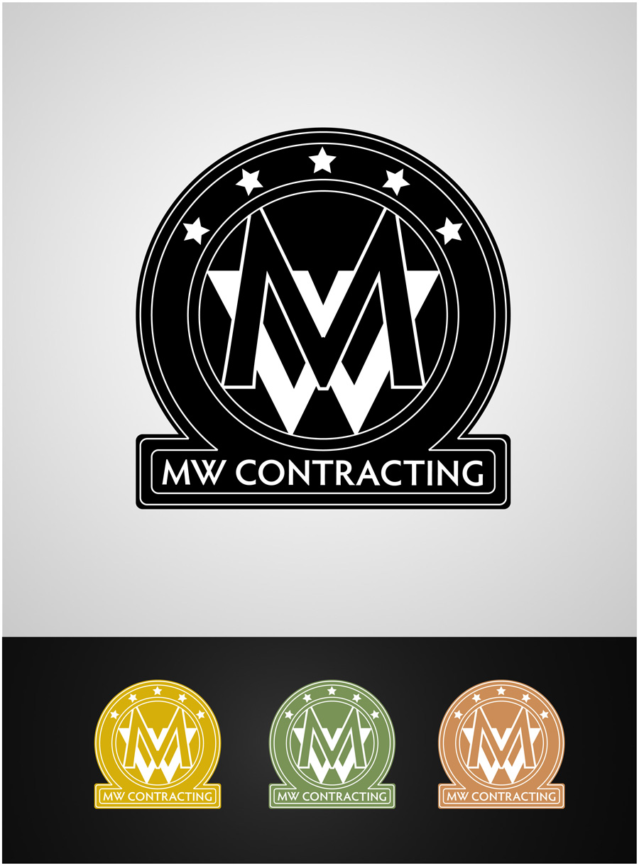 Logo Design by gkonta - Entry No. 87 in the Logo Design Contest Unique Logo Design Wanted for MW Contracting.