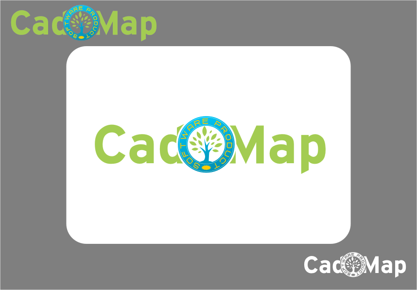 Logo Design by Ngepet_art - Entry No. 45 in the Logo Design Contest Captivating Logo Design for CadOMap software product.