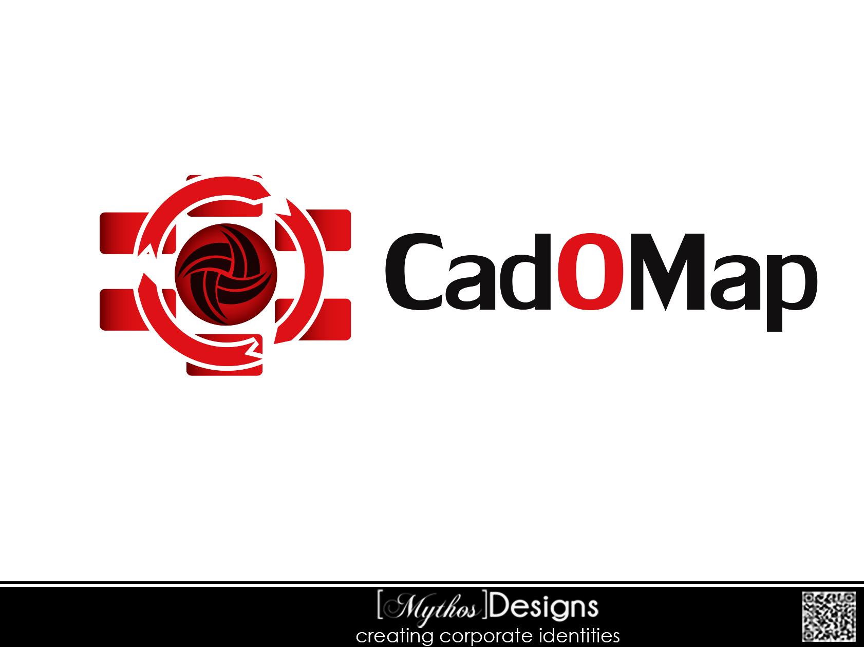Logo Design by Mythos Designs - Entry No. 51 in the Logo Design Contest Captivating Logo Design for CadOMap software product.