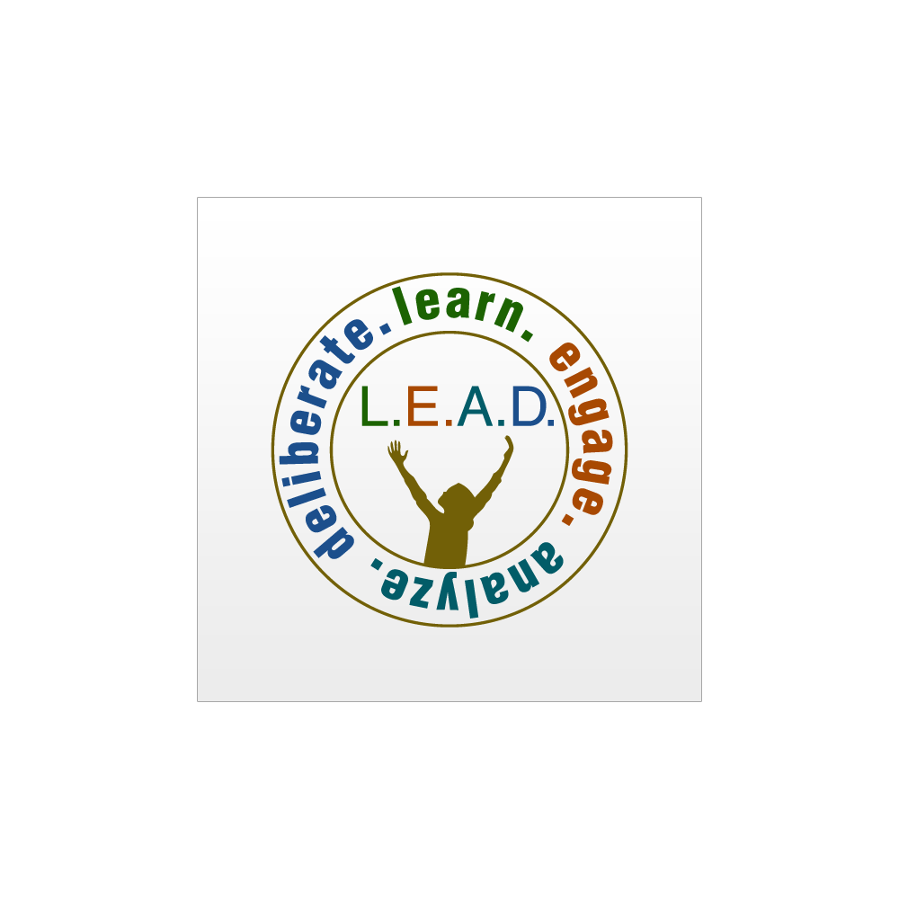Logo Design by Moshiur Rahman - Entry No. 1 in the Logo Design Contest L.E.A.D. (learn, engage, analyze, deliberate) Logo Design.
