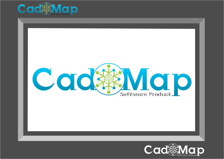 Logo Design by Ngepet_art - Entry No. 66 in the Logo Design Contest Captivating Logo Design for CadOMap software product.