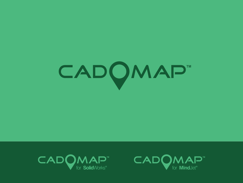 Logo Design by Private User - Entry No. 67 in the Logo Design Contest Captivating Logo Design for CadOMap software product.