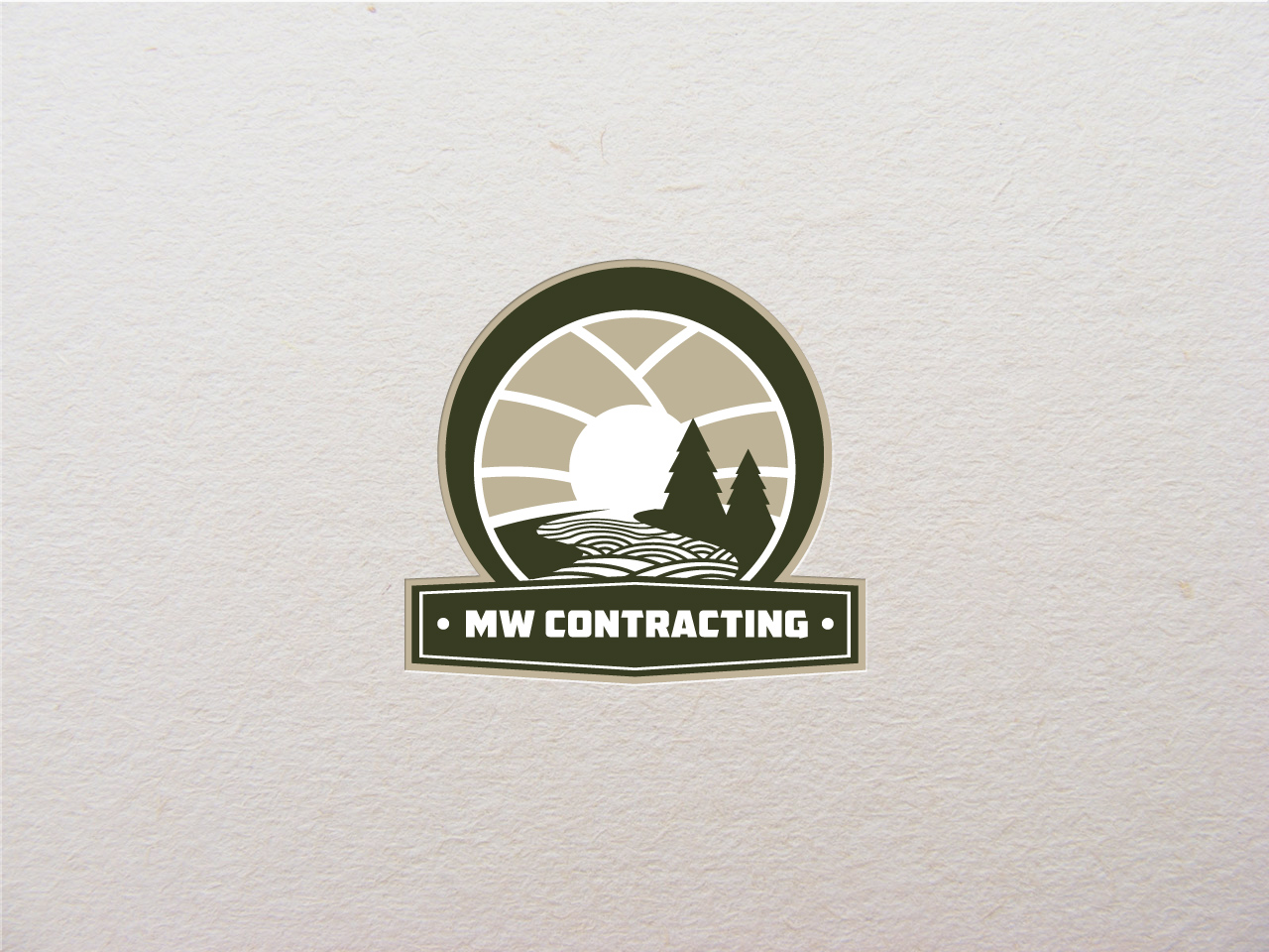 Logo Design by jpbituin - Entry No. 97 in the Logo Design Contest Unique Logo Design Wanted for MW Contracting.
