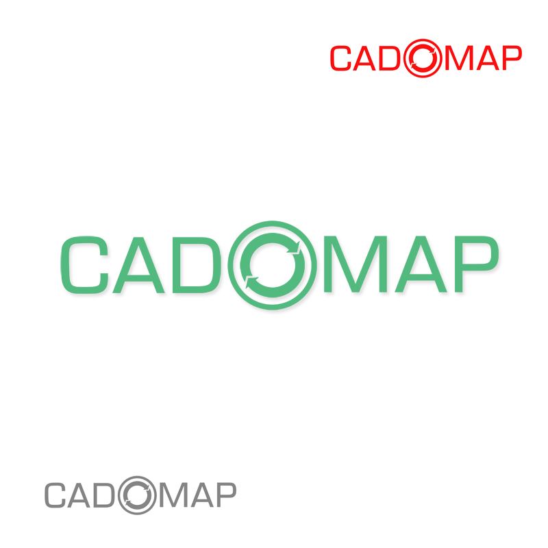 Logo Design by Robert Turla - Entry No. 69 in the Logo Design Contest Captivating Logo Design for CadOMap software product.