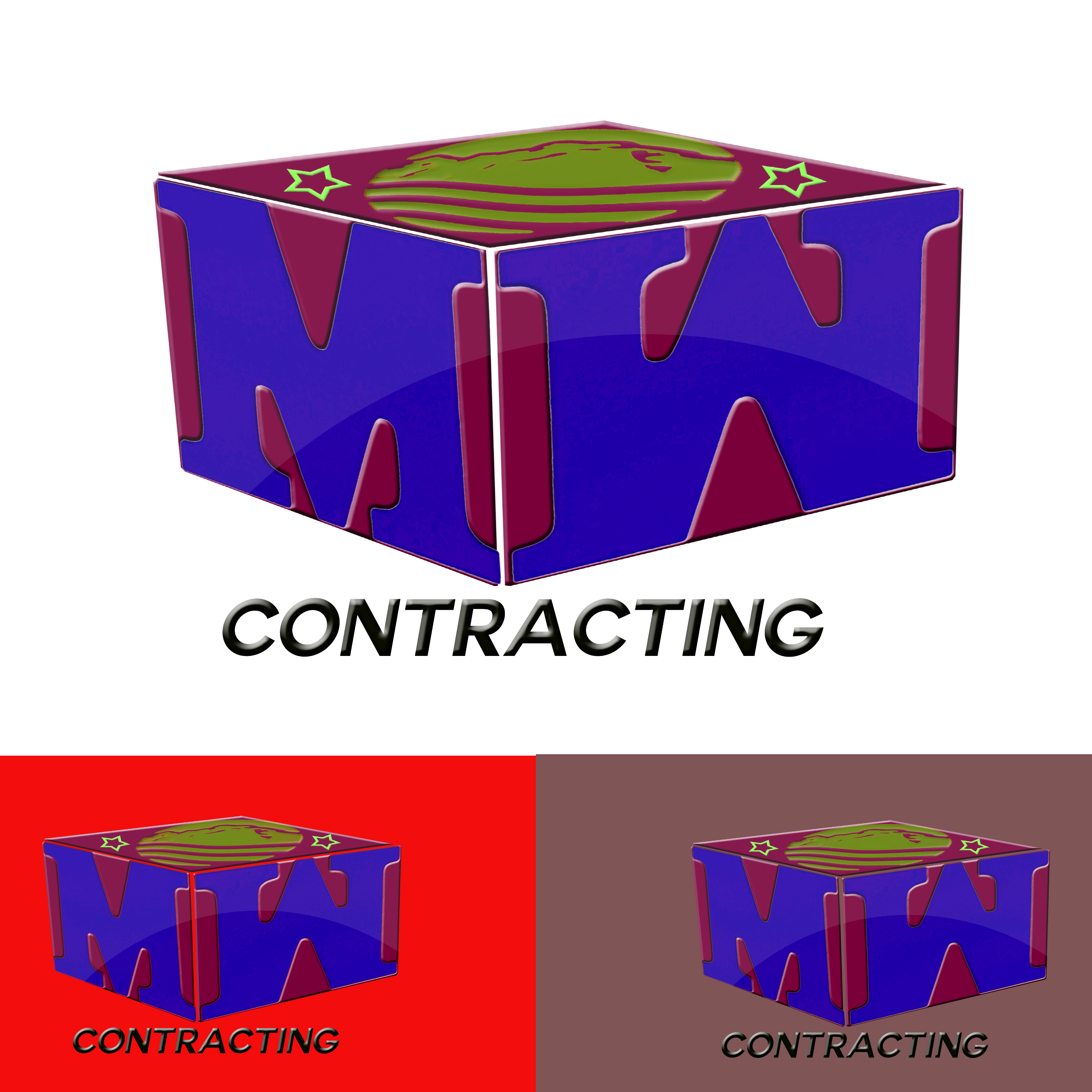 Logo Design by Roberto Sibbaluca - Entry No. 98 in the Logo Design Contest Unique Logo Design Wanted for MW Contracting.