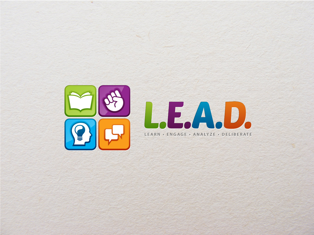Logo Design by jpbituin - Entry No. 3 in the Logo Design Contest L.E.A.D. (learn, engage, analyze, deliberate) Logo Design.