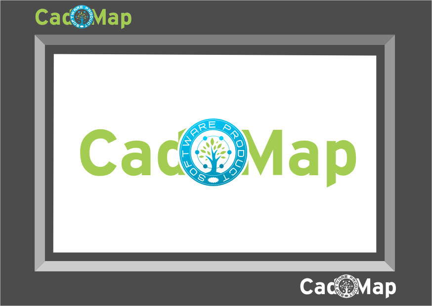Logo Design by Ngepet_art - Entry No. 74 in the Logo Design Contest Captivating Logo Design for CadOMap software product.