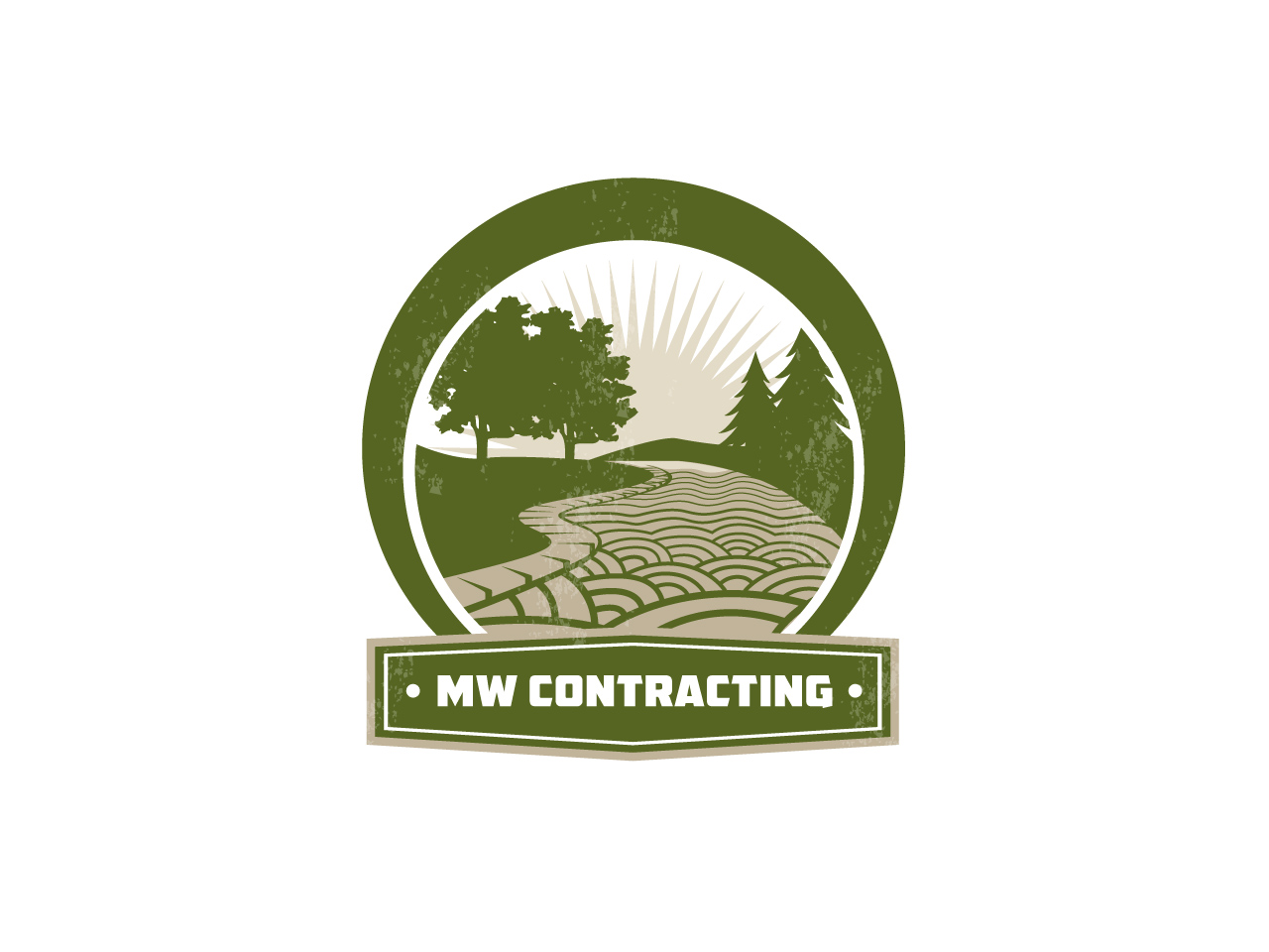 Logo Design by jpbituin - Entry No. 119 in the Logo Design Contest Unique Logo Design Wanted for MW Contracting.