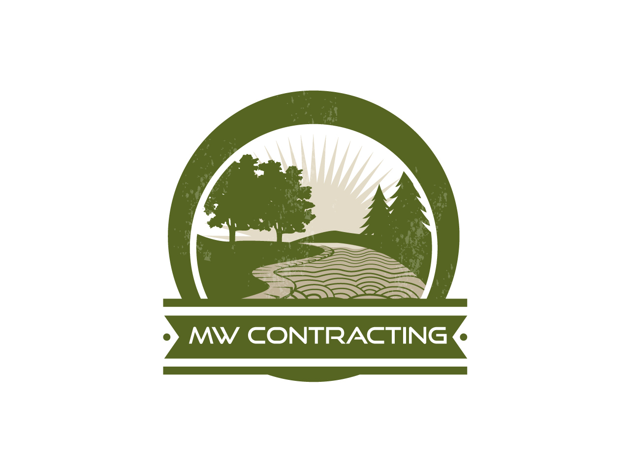 Logo Design by jpbituin - Entry No. 120 in the Logo Design Contest Unique Logo Design Wanted for MW Contracting.