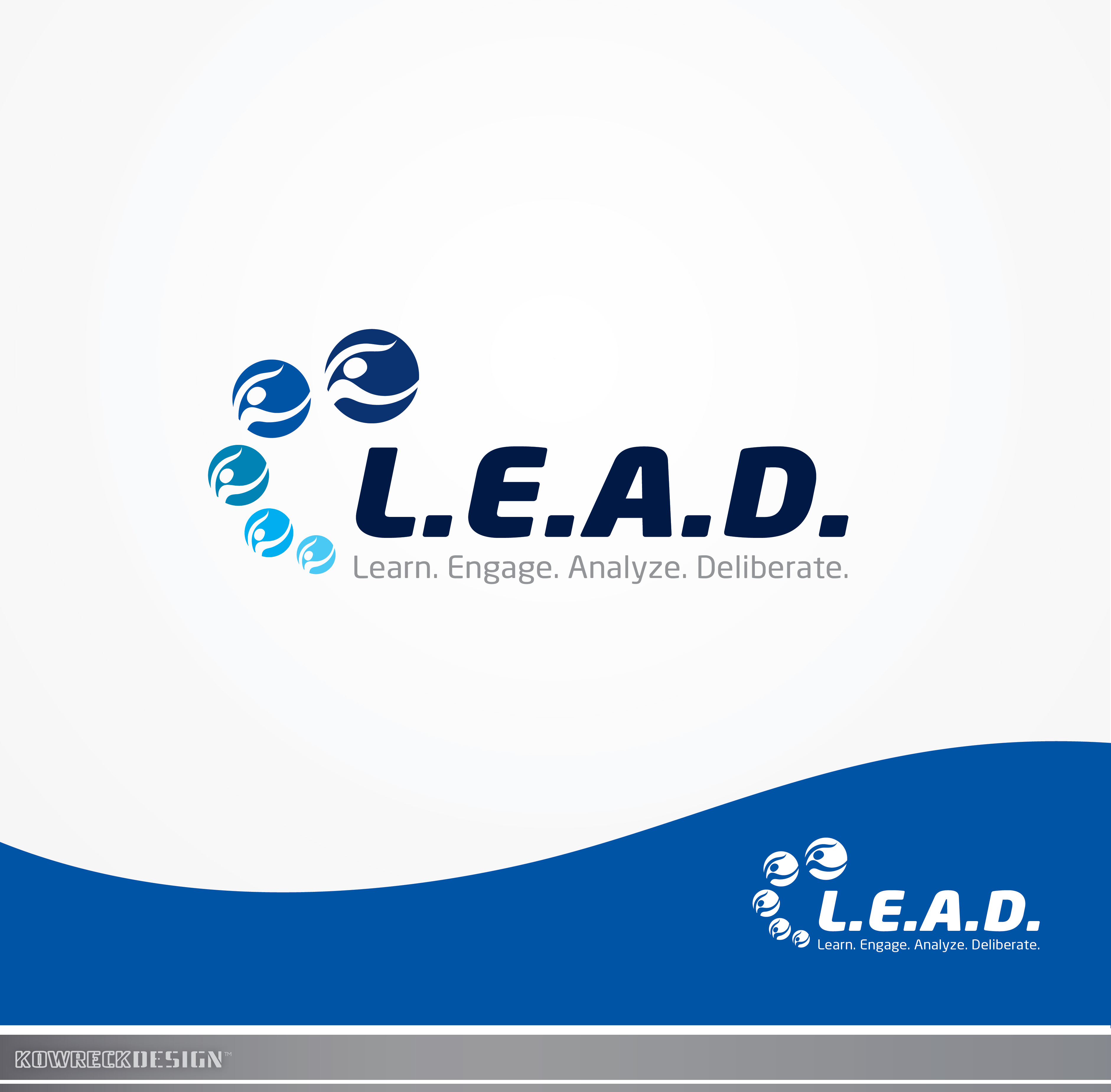 Logo Design by kowreck - Entry No. 7 in the Logo Design Contest L.E.A.D. (learn, engage, analyze, deliberate) Logo Design.