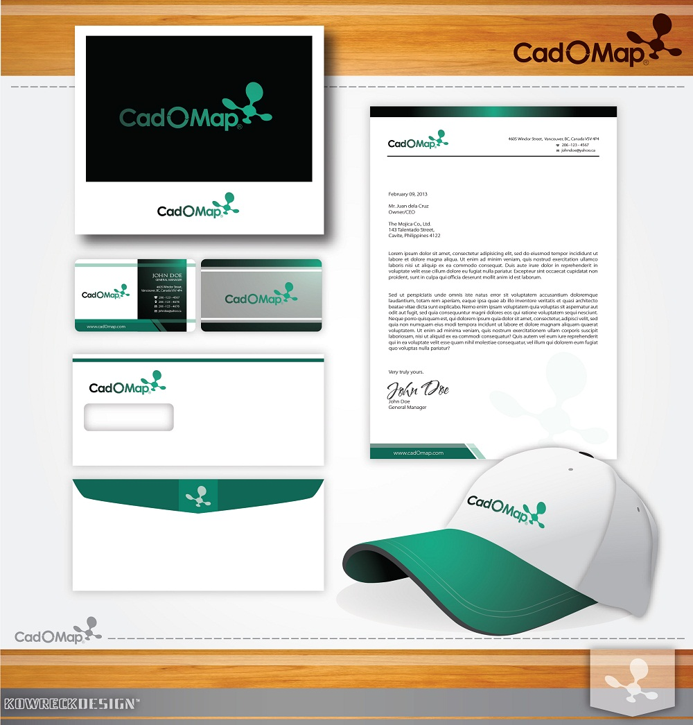 Logo Design by kowreck - Entry No. 88 in the Logo Design Contest Captivating Logo Design for CadOMap software product.