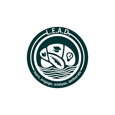 Logo Design by Think - Entry No. 12 in the Logo Design Contest L.E.A.D. (learn, engage, analyze, deliberate) Logo Design.