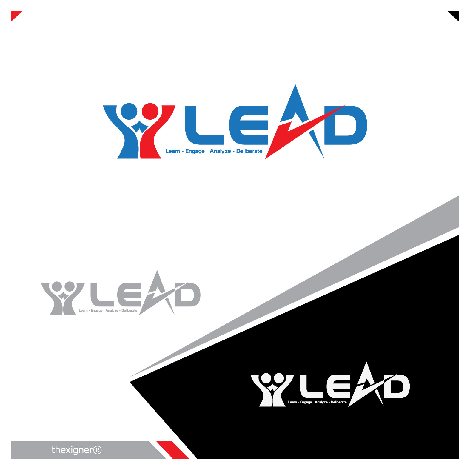 Logo Design by lagalag - Entry No. 18 in the Logo Design Contest L.E.A.D. (learn, engage, analyze, deliberate) Logo Design.