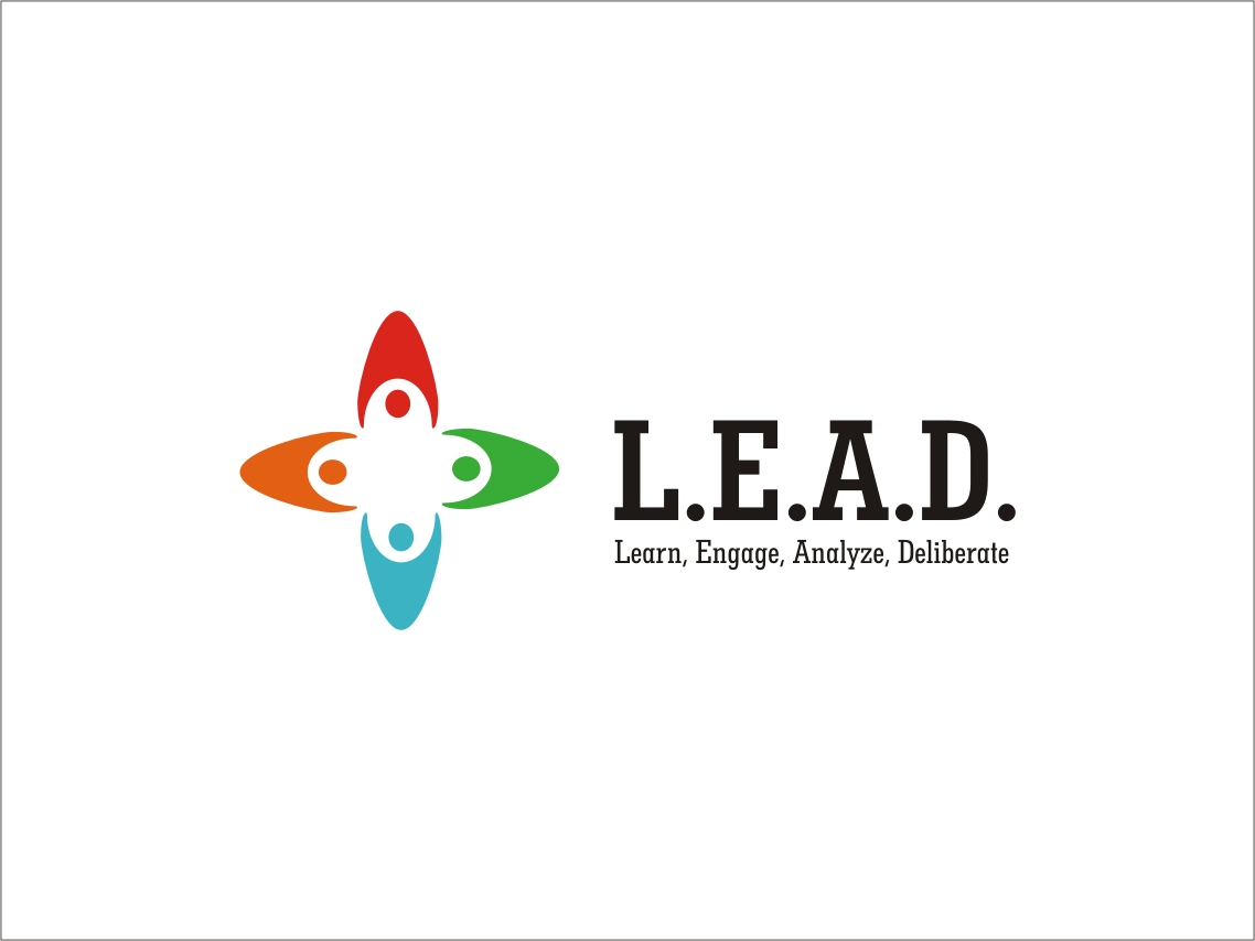 Logo Design by RED HORSE design studio - Entry No. 31 in the Logo Design Contest L.E.A.D. (learn, engage, analyze, deliberate) Logo Design.