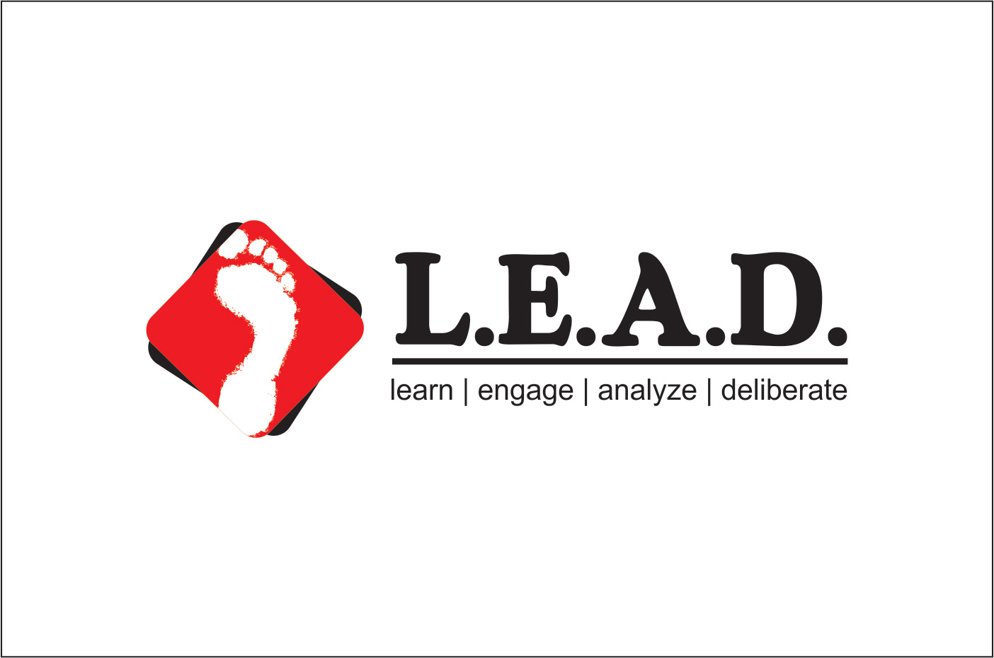 Logo Design by Rai - Entry No. 40 in the Logo Design Contest L.E.A.D. (learn, engage, analyze, deliberate) Logo Design.
