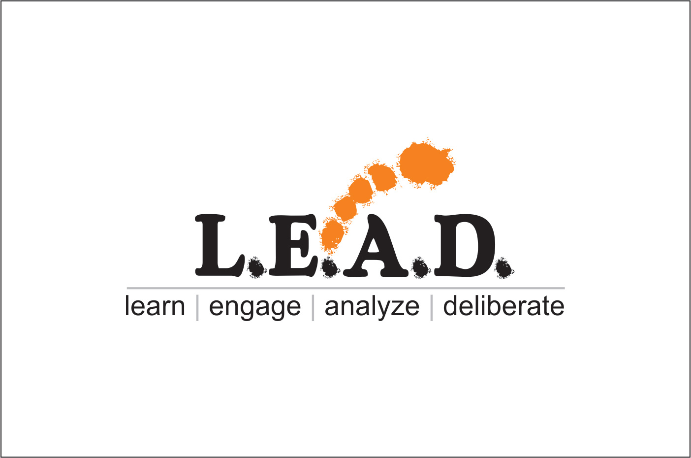 Logo Design by Rai - Entry No. 41 in the Logo Design Contest L.E.A.D. (learn, engage, analyze, deliberate) Logo Design.