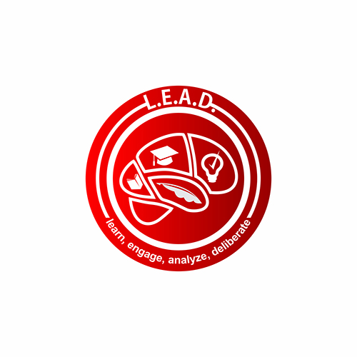 Logo Design by Think - Entry No. 57 in the Logo Design Contest L.E.A.D. (learn, engage, analyze, deliberate) Logo Design.