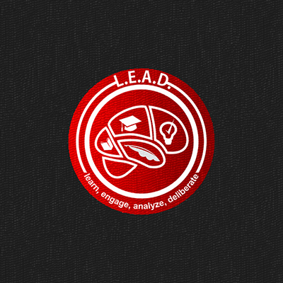 Logo Design by Think - Entry No. 58 in the Logo Design Contest L.E.A.D. (learn, engage, analyze, deliberate) Logo Design.