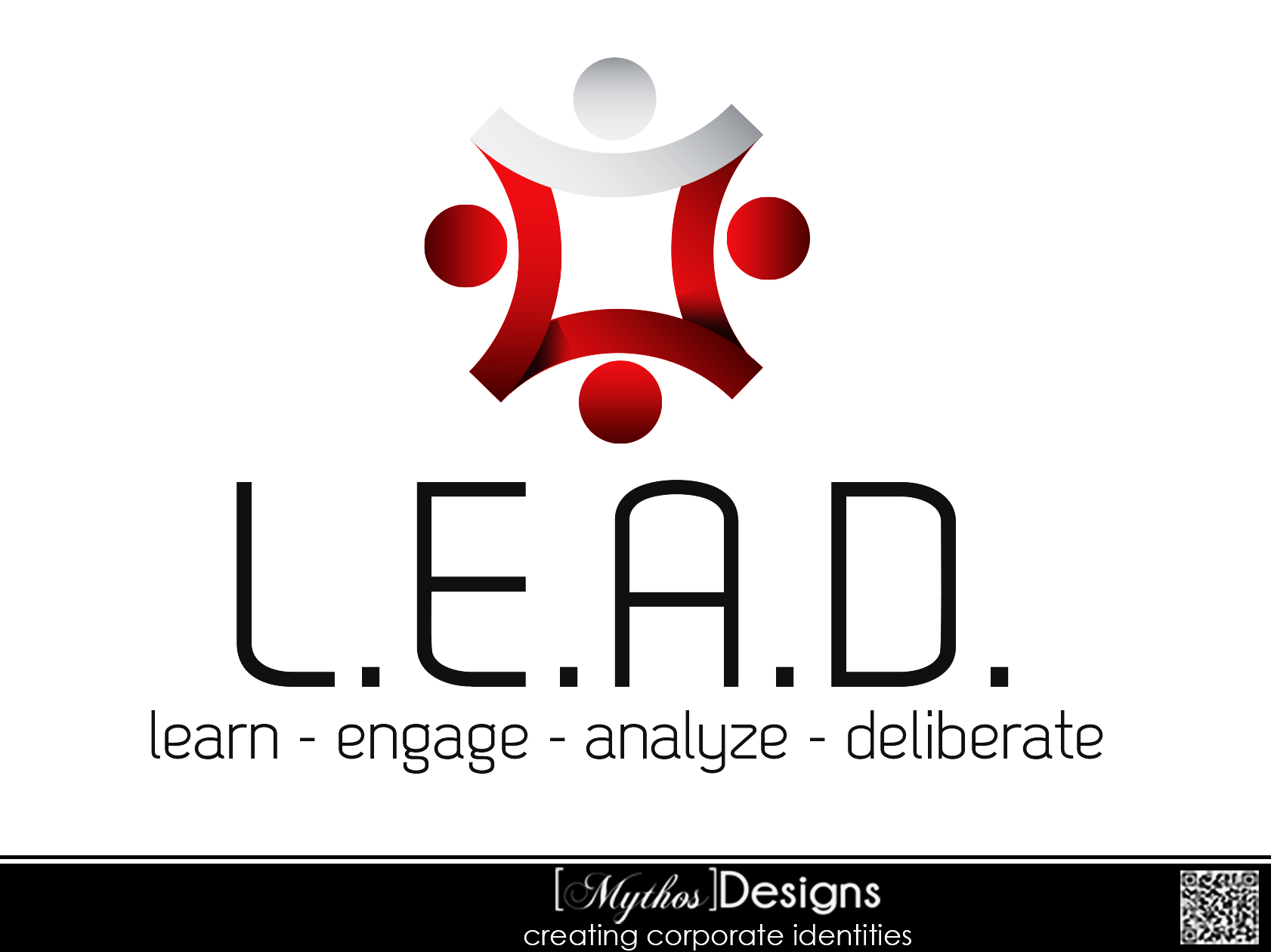 Logo Design by Mythos Designs - Entry No. 60 in the Logo Design Contest L.E.A.D. (learn, engage, analyze, deliberate) Logo Design.