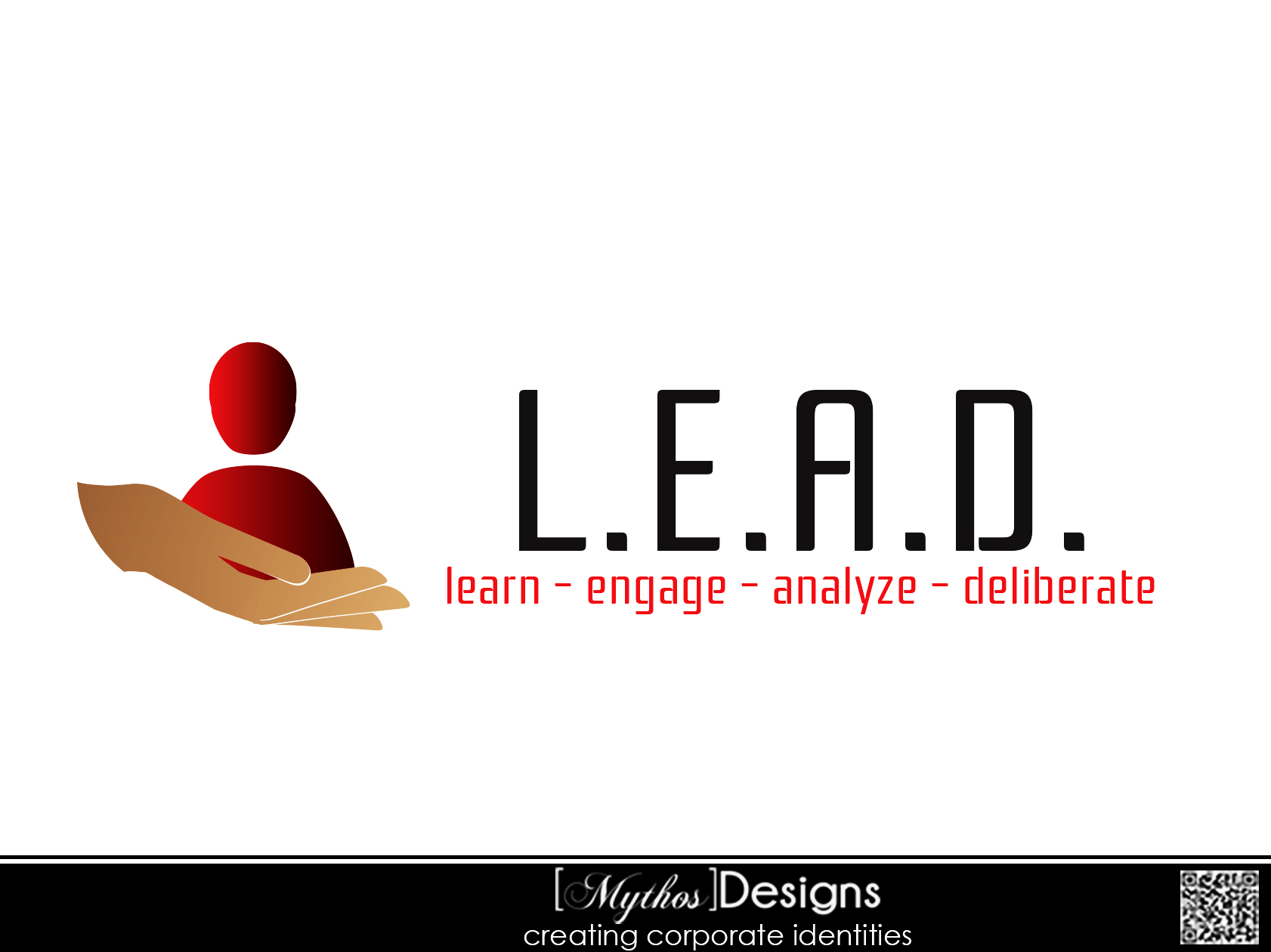 Logo Design by Mythos Designs - Entry No. 62 in the Logo Design Contest L.E.A.D. (learn, engage, analyze, deliberate) Logo Design.