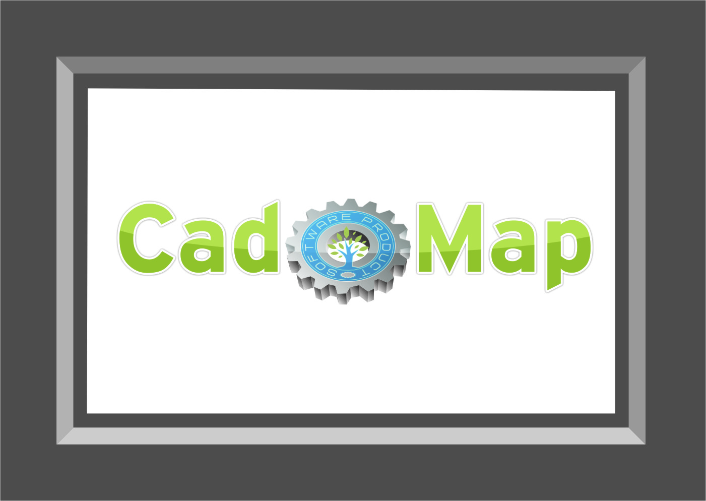 Logo Design by Ngepet_art - Entry No. 127 in the Logo Design Contest Captivating Logo Design for CadOMap software product.