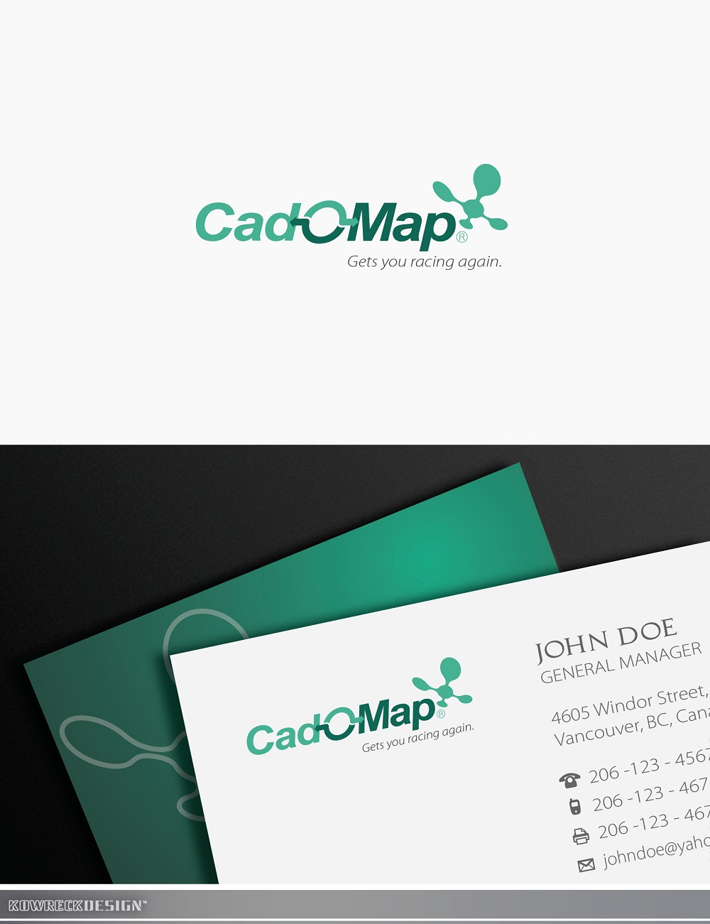 Logo Design by kowreck - Entry No. 142 in the Logo Design Contest Captivating Logo Design for CadOMap software product.