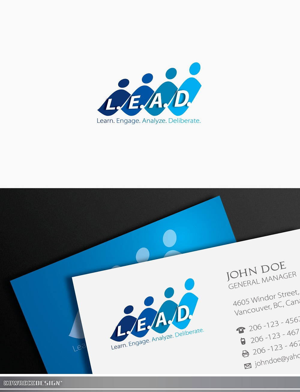 Logo Design by kowreck - Entry No. 89 in the Logo Design Contest L.E.A.D. (learn, engage, analyze, deliberate) Logo Design.