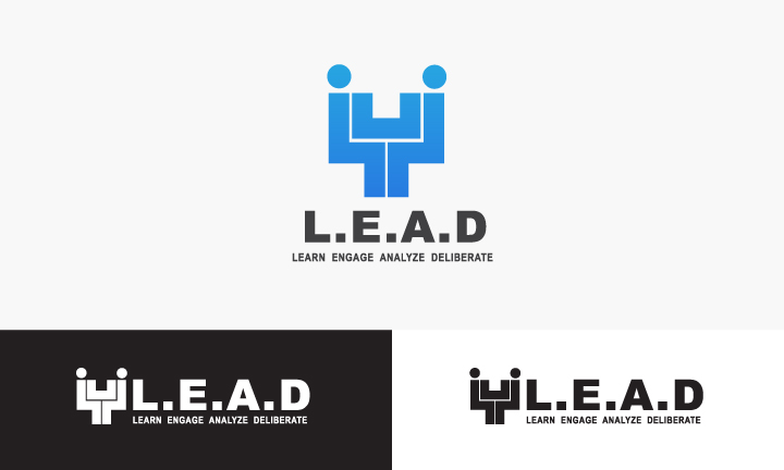 Logo Design by Top Elite - Entry No. 91 in the Logo Design Contest L.E.A.D. (learn, engage, analyze, deliberate) Logo Design.