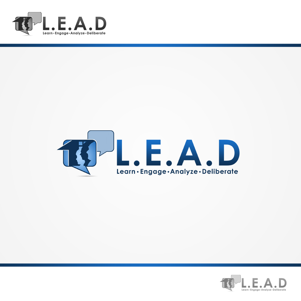 Logo Design by omARTist - Entry No. 92 in the Logo Design Contest L.E.A.D. (learn, engage, analyze, deliberate) Logo Design.