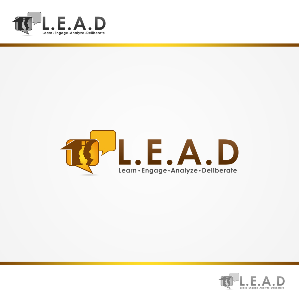 Logo Design by omARTist - Entry No. 96 in the Logo Design Contest L.E.A.D. (learn, engage, analyze, deliberate) Logo Design.