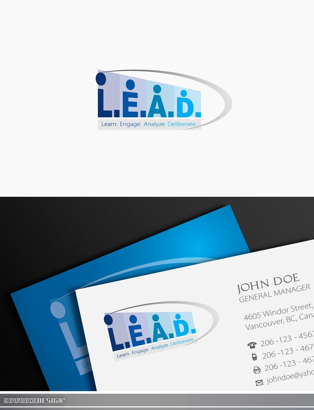 Logo Design by kowreck - Entry No. 106 in the Logo Design Contest L.E.A.D. (learn, engage, analyze, deliberate) Logo Design.