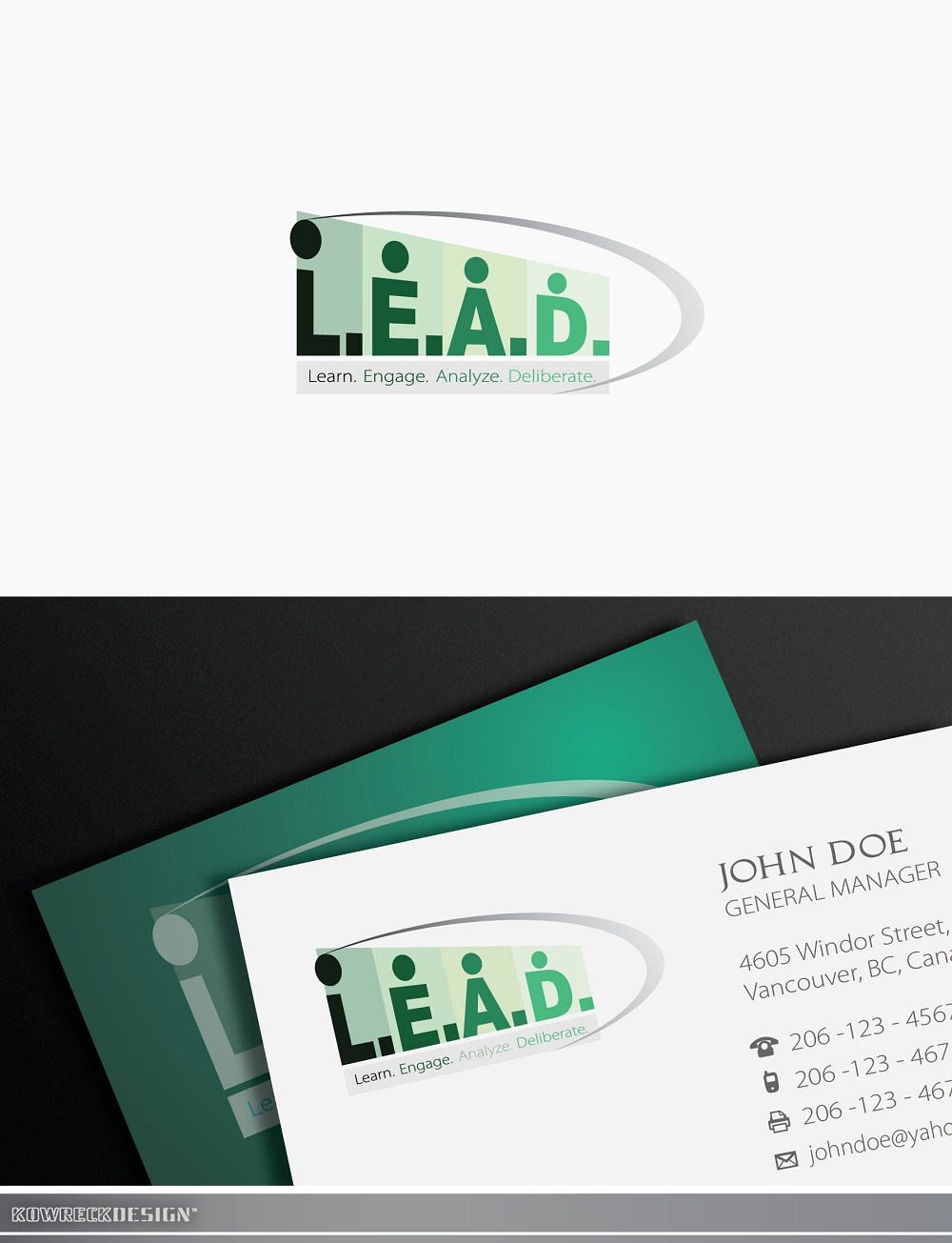 Logo Design by kowreck - Entry No. 110 in the Logo Design Contest L.E.A.D. (learn, engage, analyze, deliberate) Logo Design.