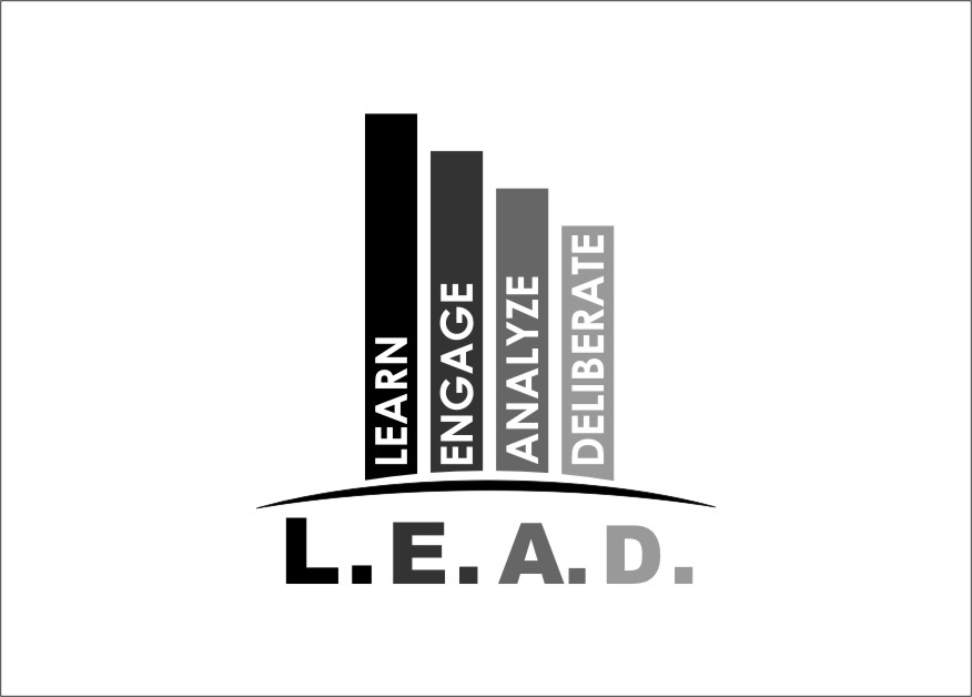 Logo Design by Ngepet_art - Entry No. 115 in the Logo Design Contest L.E.A.D. (learn, engage, analyze, deliberate) Logo Design.