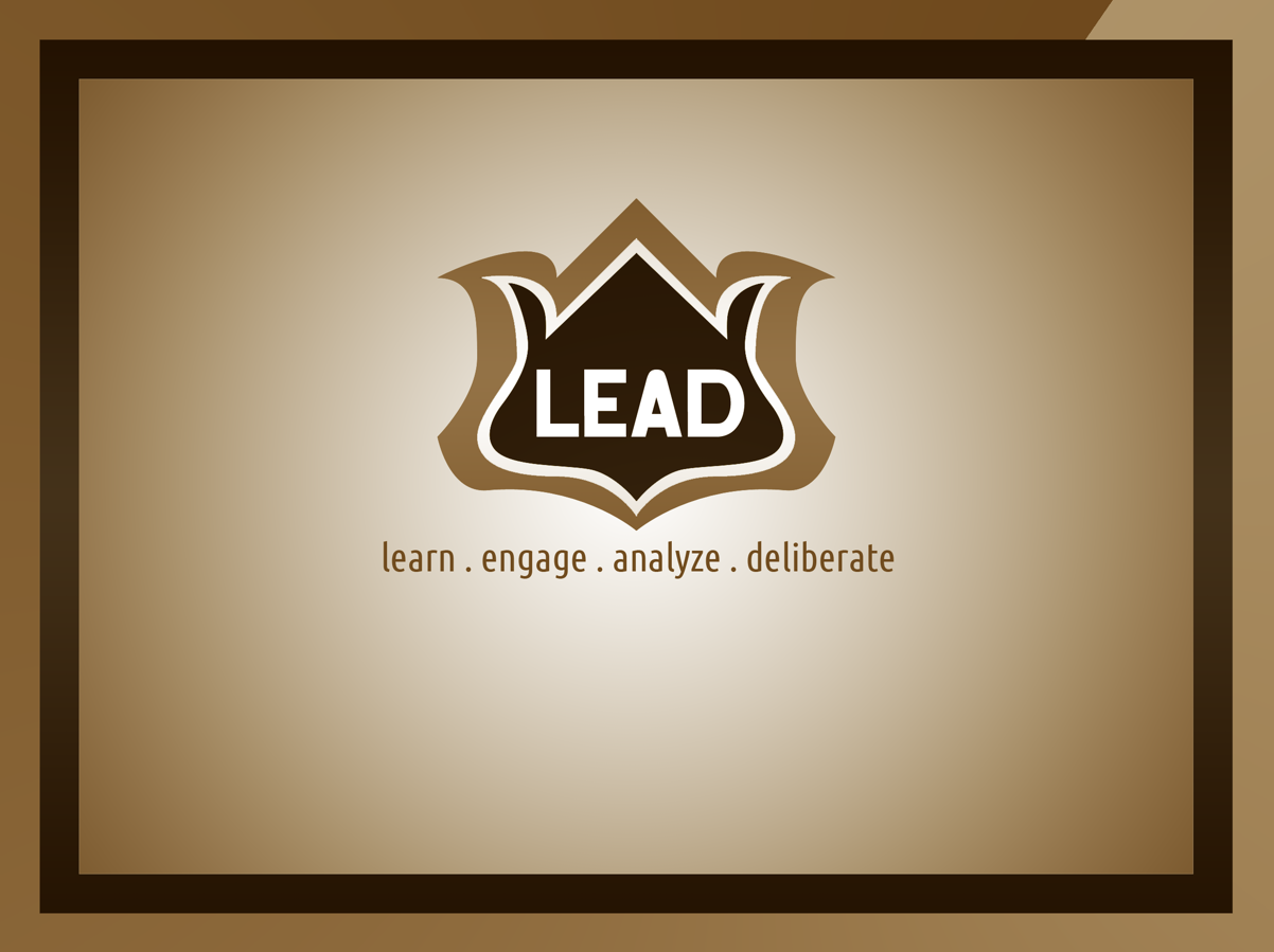 Logo Design by JaroslavProcka - Entry No. 122 in the Logo Design Contest L.E.A.D. (learn, engage, analyze, deliberate) Logo Design.