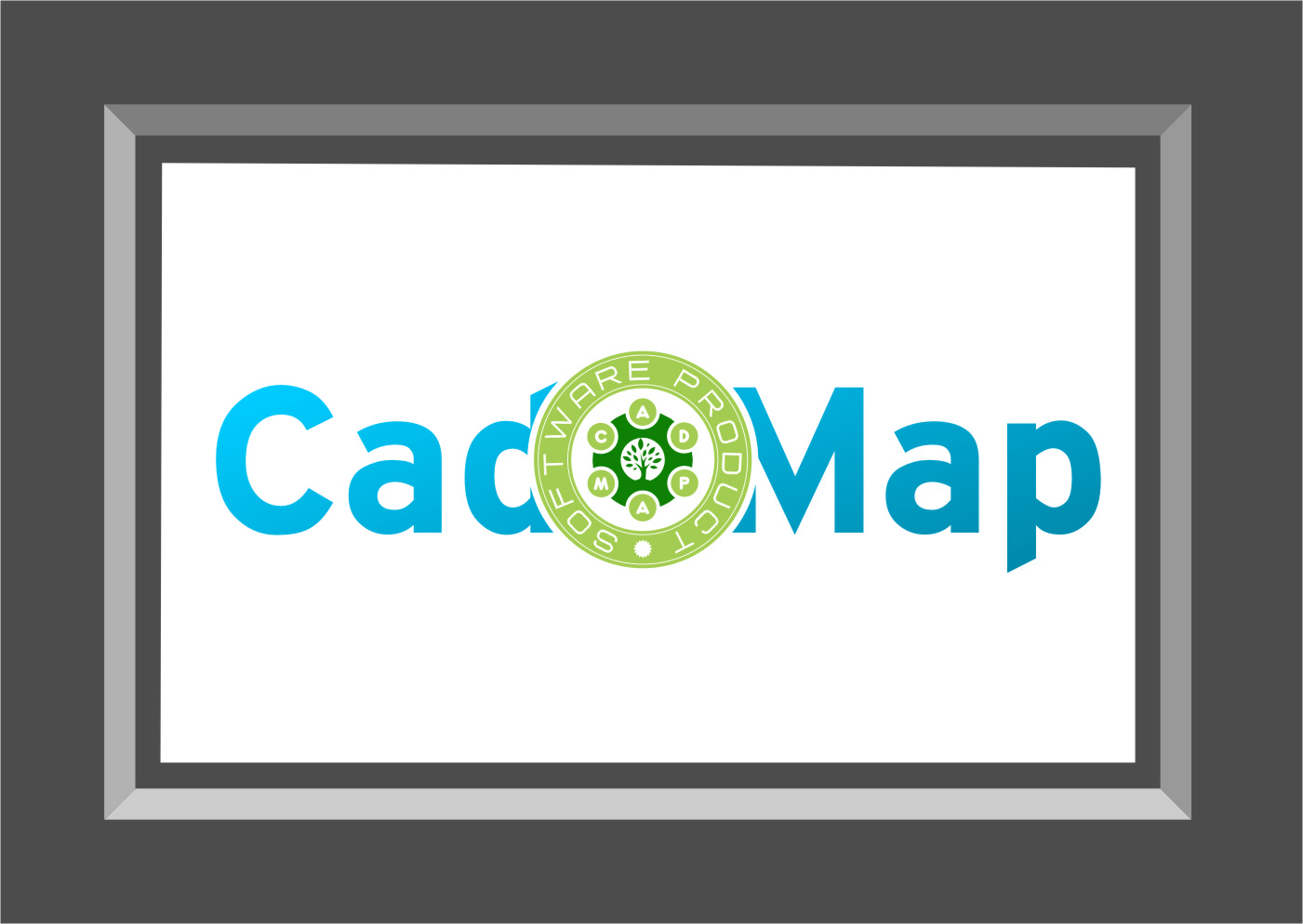 Logo Design by Ngepet_art - Entry No. 152 in the Logo Design Contest Captivating Logo Design for CadOMap software product.