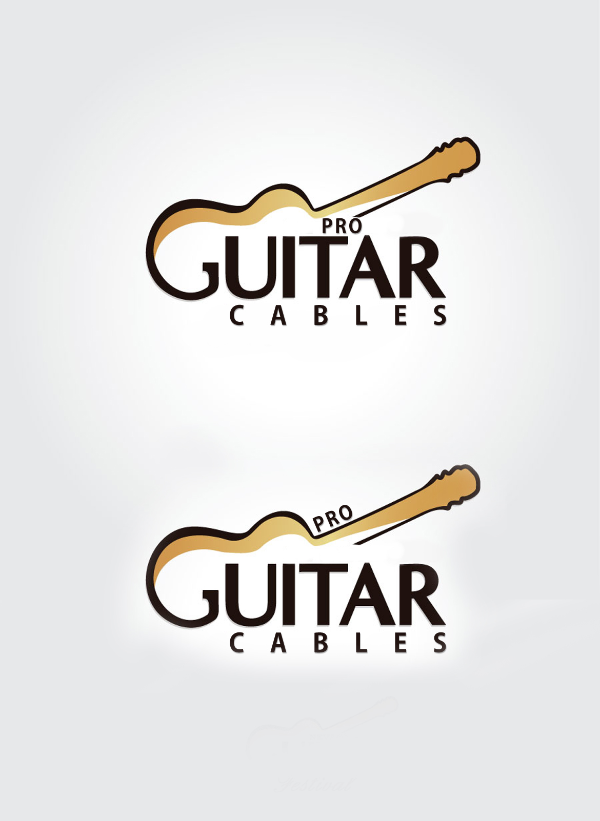 Logo Design by Shimmer Shine - Entry No. 15 in the Logo Design Contest Pro Guitar Cables Logo Design.