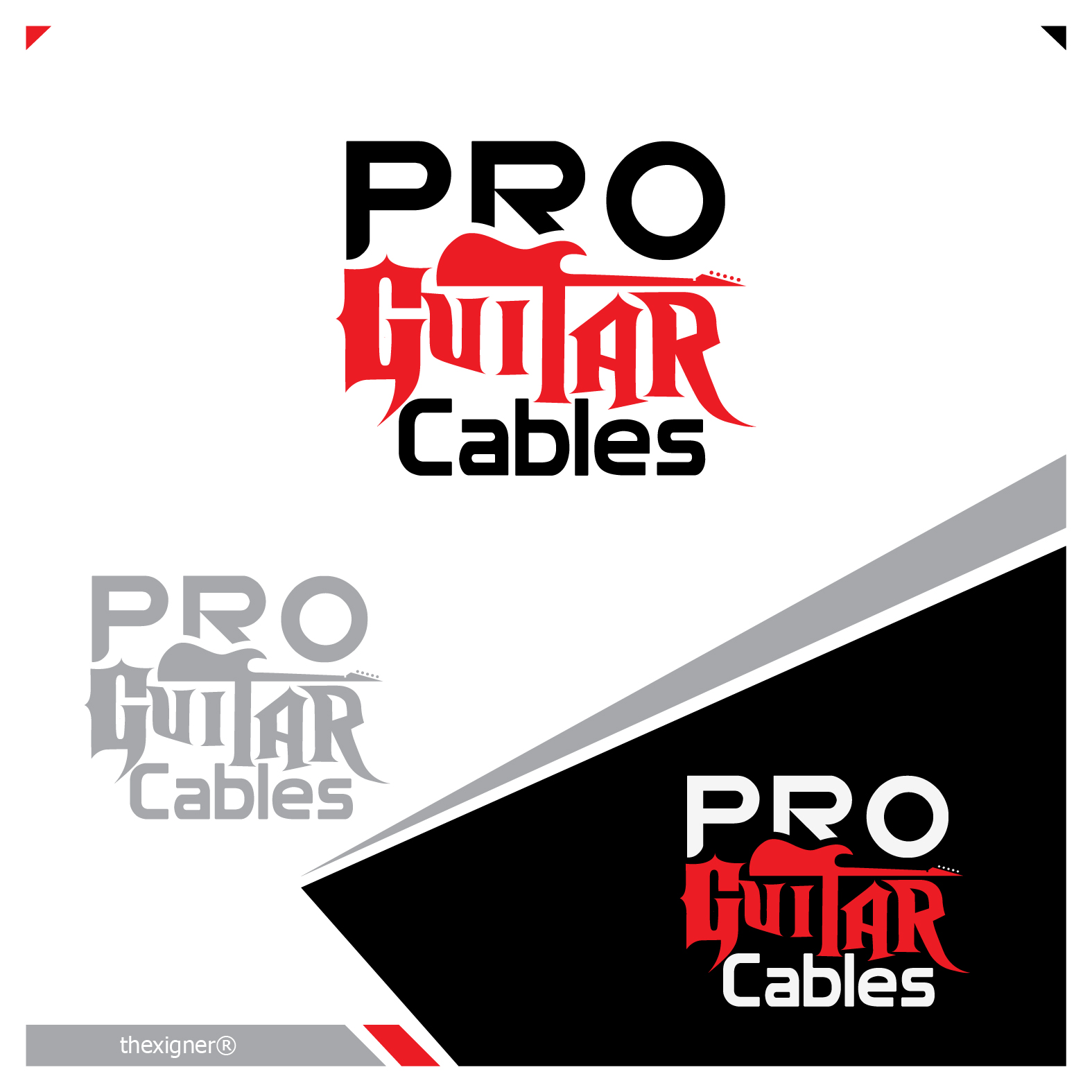 Logo Design by lagalag - Entry No. 17 in the Logo Design Contest Pro Guitar Cables Logo Design.