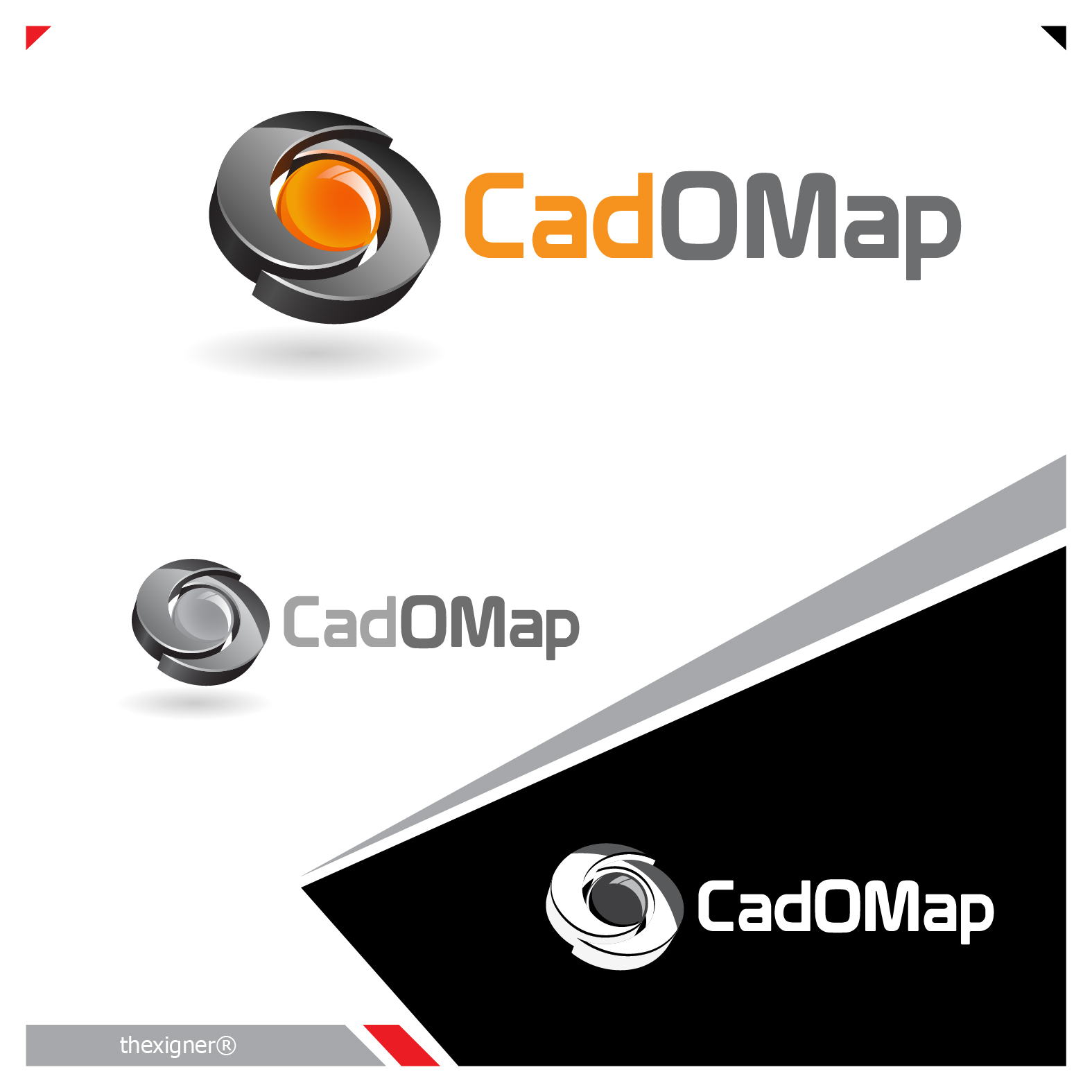 Logo Design by lagalag - Entry No. 154 in the Logo Design Contest Captivating Logo Design for CadOMap software product.