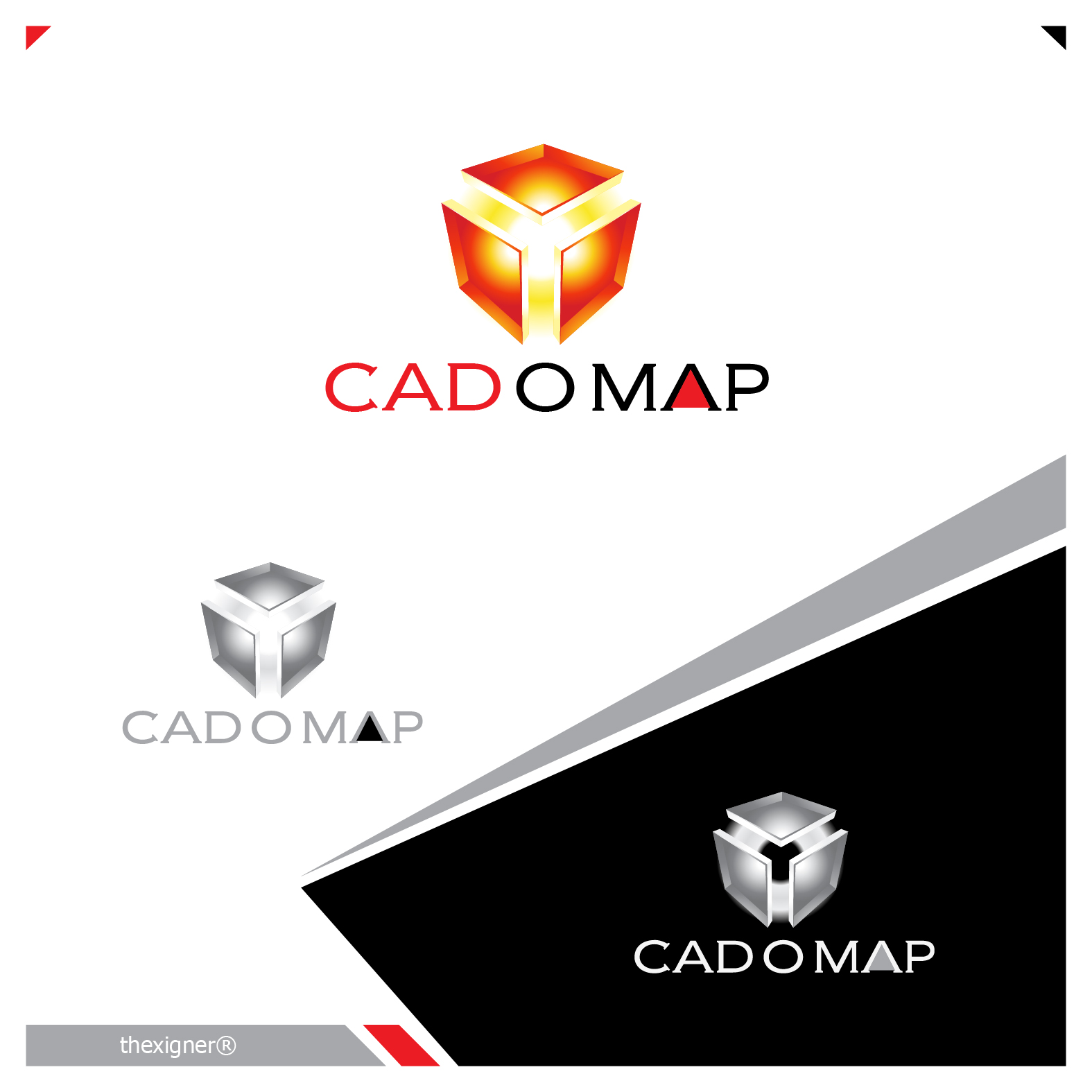 Logo Design by lagalag - Entry No. 156 in the Logo Design Contest Captivating Logo Design for CadOMap software product.