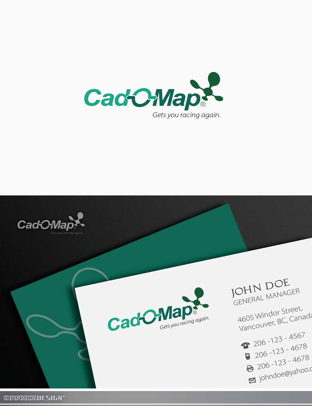Logo Design by kowreck - Entry No. 157 in the Logo Design Contest Captivating Logo Design for CadOMap software product.