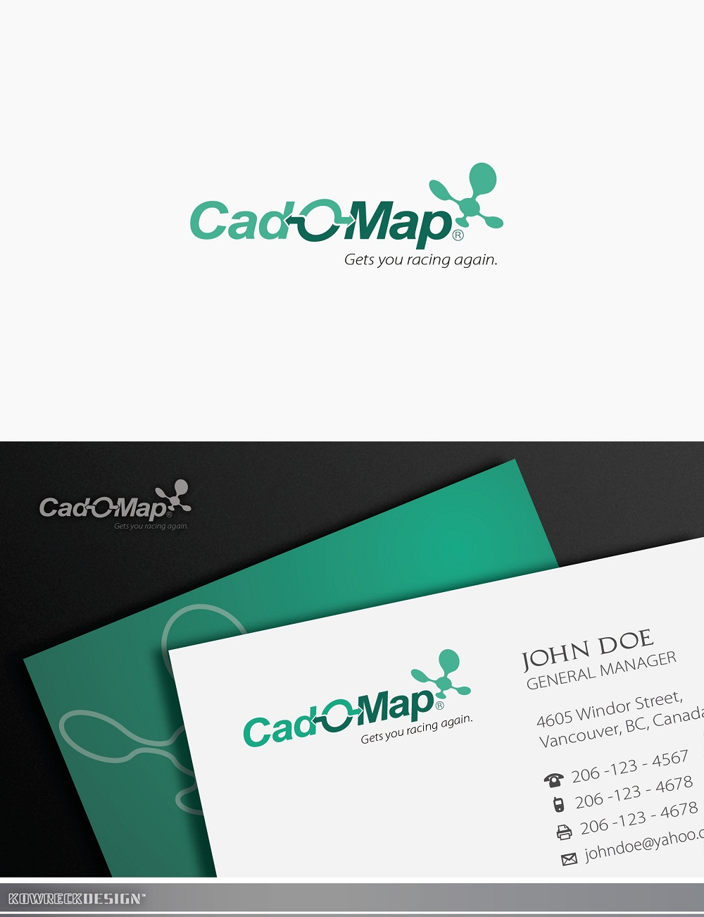 Logo Design by kowreck - Entry No. 158 in the Logo Design Contest Captivating Logo Design for CadOMap software product.