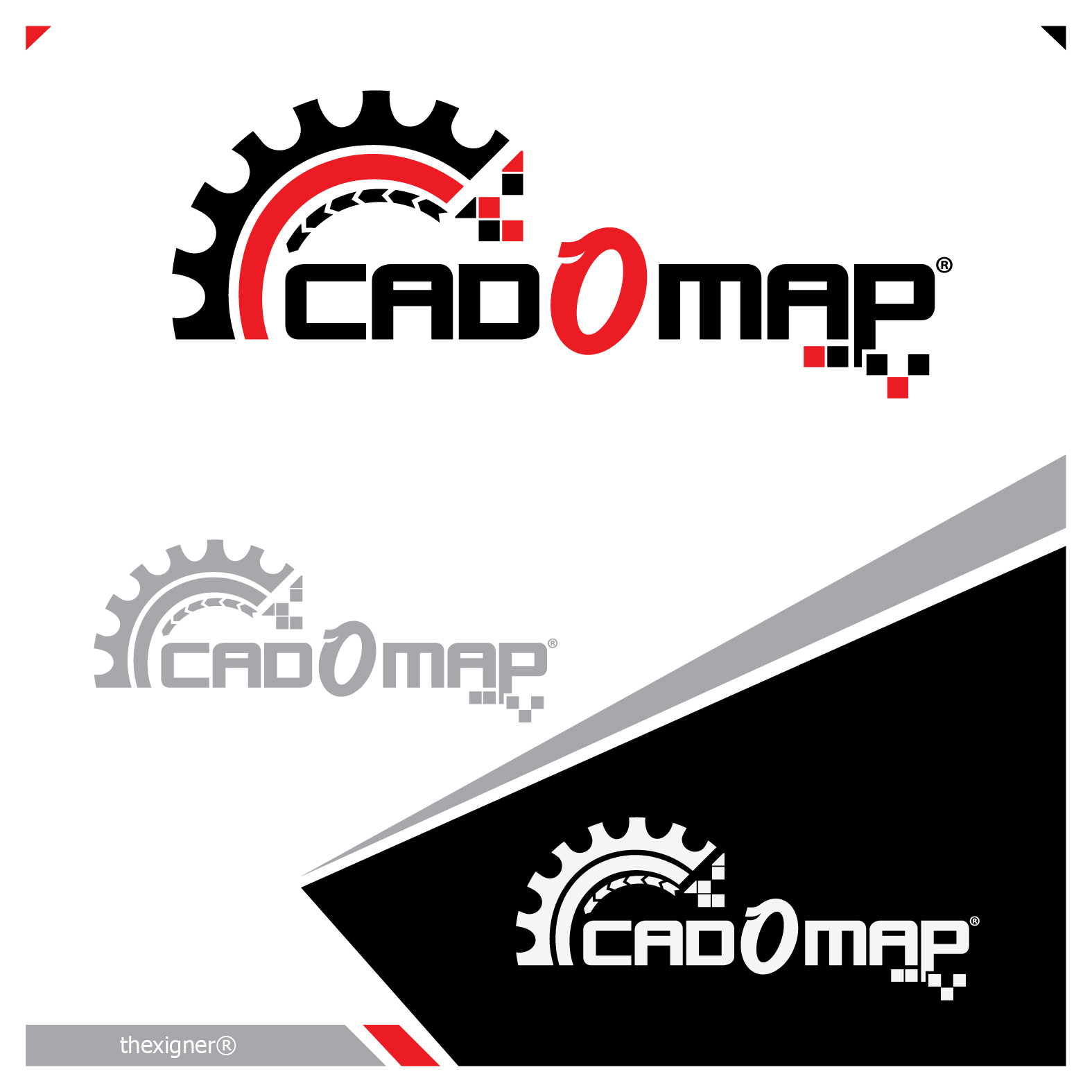 Logo Design by lagalag - Entry No. 159 in the Logo Design Contest Captivating Logo Design for CadOMap software product.