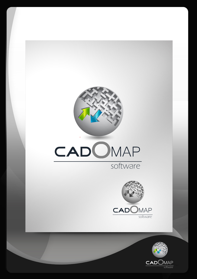 Logo Design by Mark Anthony Moreto Jordan - Entry No. 160 in the Logo Design Contest Captivating Logo Design for CadOMap software product.